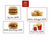 Making Change Menu - MCDONALDS & CHICK FIL A