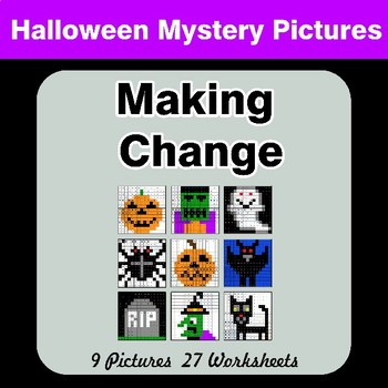 Making Change - Halloween Mystery Pictures