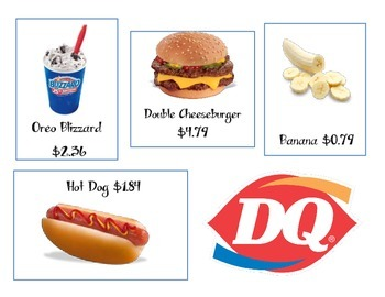 Making Change Menu-DAIRY QUEEN