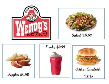 Making Change Menu- WENDY'S