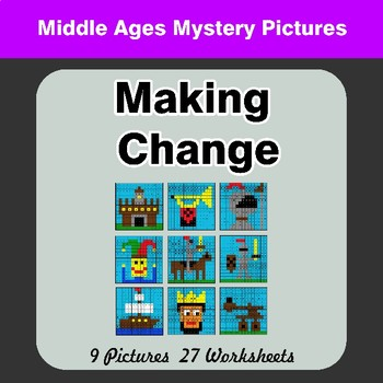 Making Change - Middle Ages Math Mystery Pictures