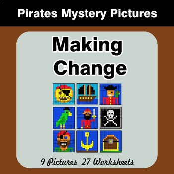 Making Change - Mystery Pictures - Pirates