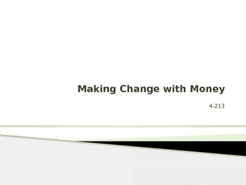 Making Change Powerpoint