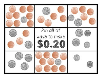 Money: Quarters, Dimes, Nickels, Pennies - Self-Checking Math Centers