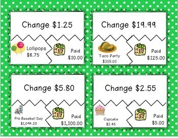 Making Change Shopping Game (Subtracting Decimals)