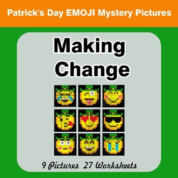 Making Change - St. Patrick's Day Emoji Mystery Pictures