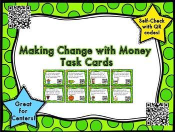 Making Change Task Cards- QR Codes