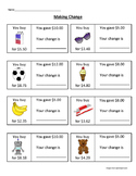 Making Change Worksheet