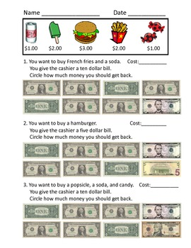 Making Change Worksheets by hmedlin | Teachers Pay Teachers