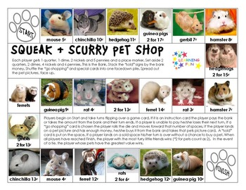 Making Change at the Squeak & Scurry Pet Shop