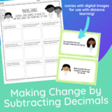 Making Change by Subtracting Decimals | Money Math Gamer Style!