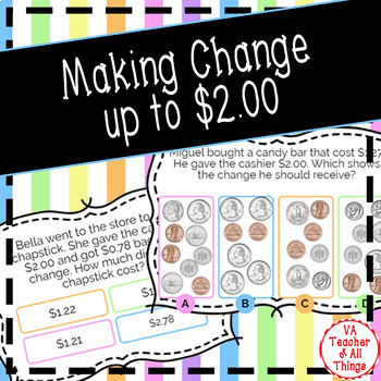 Making Change to $2 Boom Cards