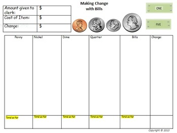 Making Change with Dollars and Cents