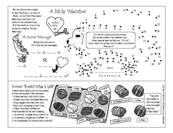 Making Chocolate (Valentine's Day) Two-Page Activity Set and Word Search Set