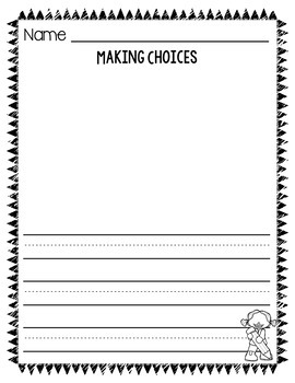 Making Choices in PreK and Kindergarten Informative Writing Templates