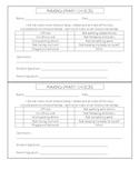 Making Choices Parent Communication Sheet
