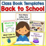 Back to School Class Book Writing Activities