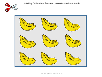 Making Collections Grocery Theme Math Game (Tools of the Mind) 1-10