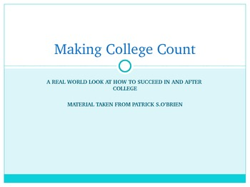 Making College Count
