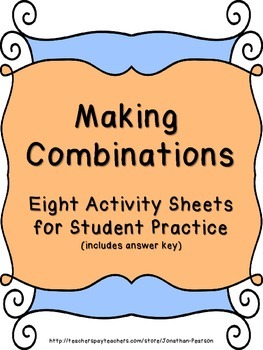 Making Combinations - Eight Activity Sheets for Student Practice