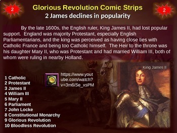 Making Comic Strips for England's Glorious Revolution: 20-slide follow-along PPT