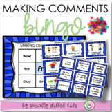 SOCIAL SKILLS  Making Comments BINGO {k-5th Grade or Ability}