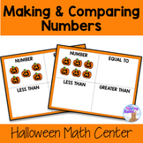 Halloween Math Center - Making & Comparing Numbers