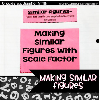 Making, Comparing and Using Similar Figures with Flippable (Foldable)
