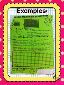 Making, Comparing and Using Similar Figures Lessons for Interactive Notebooks