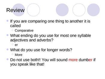 Making Comparisons: Comparative and Superlative Forms