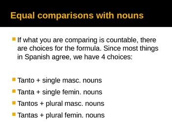 Making Comparisons in Spanish (Comparativos)