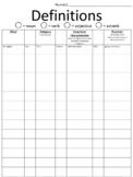 Making Complete Definitions - Free Framework / Organizer i