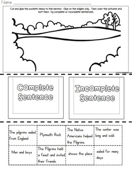 Make a Complete Sentence Thanksgiving Style