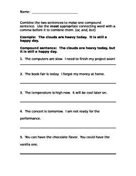 Making Compound Sentences