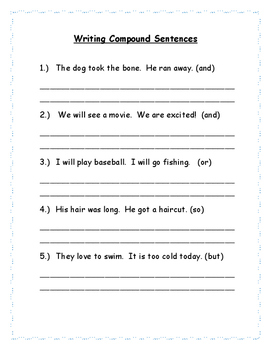 Writing Compound Sentences