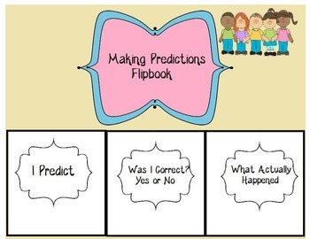 Make, Confirm & Clarify Predictions flipbook- Guided Reading Comprehension