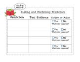 Making & Confirming Predictions Graphic Organizer