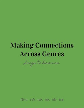 Making Connections Across Genres - Songs To Dramas