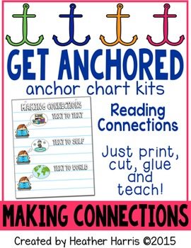 Making Connections Anchor Chart Kit {text to text, self, the world}