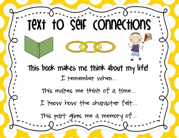 making connections anchor charts with question stems by mary katherine johnson. Black Bedroom Furniture Sets. Home Design Ideas