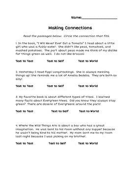 Making Connections Assessment