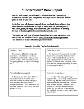 Making Connections Book Report Template