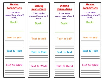 Making Connections Bookmarks