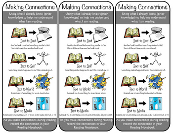 Making Connections Bookmarks for Third Graders