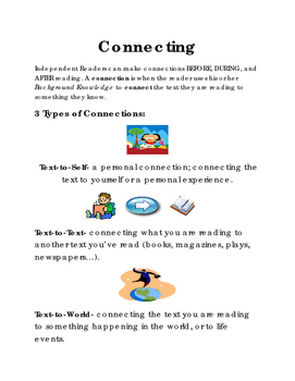 Making Connections Comprehension Strategy EXPANDED Handout