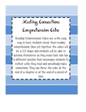 Making Connections Cube - Reading Comprehension Activity