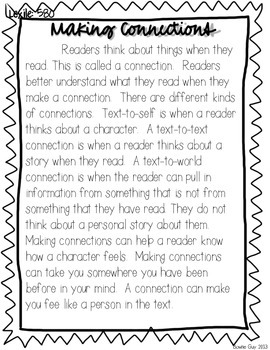 Making Connections! {Differentiated Reading Passages & Questions}