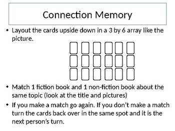 Making Connections Memory