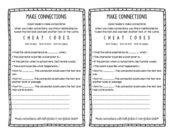 Making Connections Mini Anchor Chart and Guided Practice