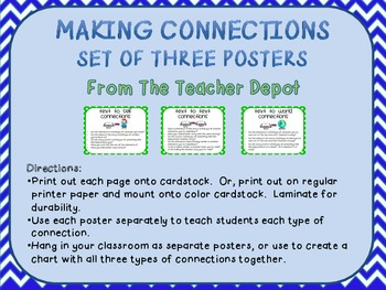 Making Connections Posters - Chevron Theme
